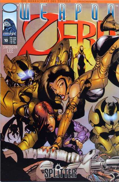 Weapon Zero 11 - Woman - Light - Fighting - Robot - Fire - Joe Benitez