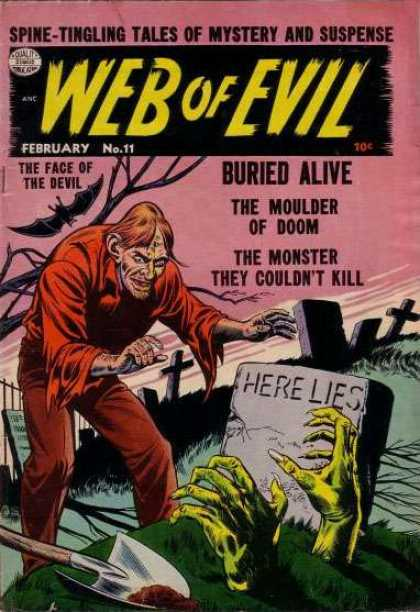 Web of Evil 11 - Spine-tingling Tales Of Mystery And Suspense - Bat - Buried Alive - Cross - Here Lies