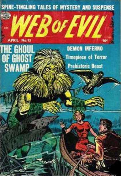 Web of Evil 13 - Bird - Boat - Red Dress - Swamp - Boat Oar