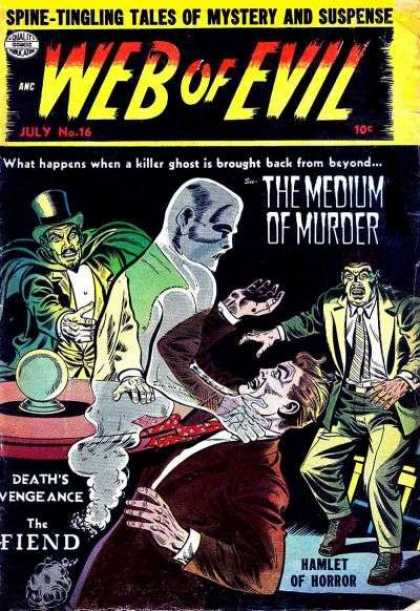 Web of Evil 16 - Magician - Crystal Ball - Ghost - Table - Scared Man