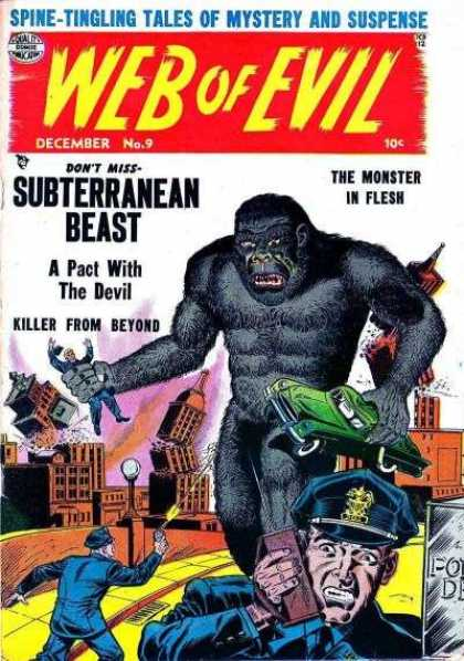 Web of Evil 9 - Skyscrapers - Green Car - Rampage In The City - Giant Beast - King Kong