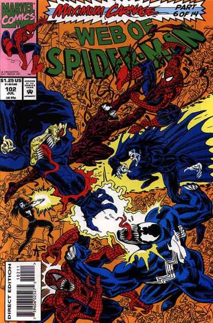 Web of Spider-Man 102 - Marvel Comics - Superhero - Maximum Carnage - Monster - Direct Edition