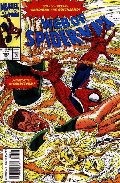 Web of Spider-Man 107 - Sandman - Quicksand - Sandstorm - Vortex - Marvel