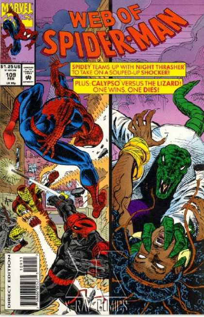 Web of Spider-Man 109 - Night Thrasher - Calypso - Lizard - Web - Blaster