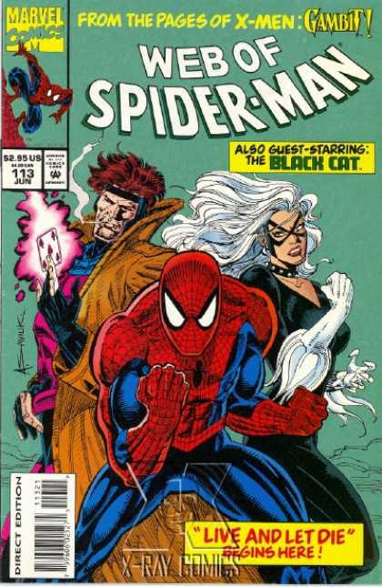 Web of Spider-Man 113 - Spider-man - Gambit - Black Cat - Live And Let Die - X-men