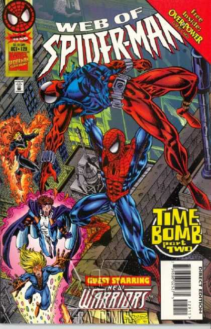 Web of Spider-Man 129 - Time Bomb - Overpower - New Warriors - Tallest Buildings - Over The Top