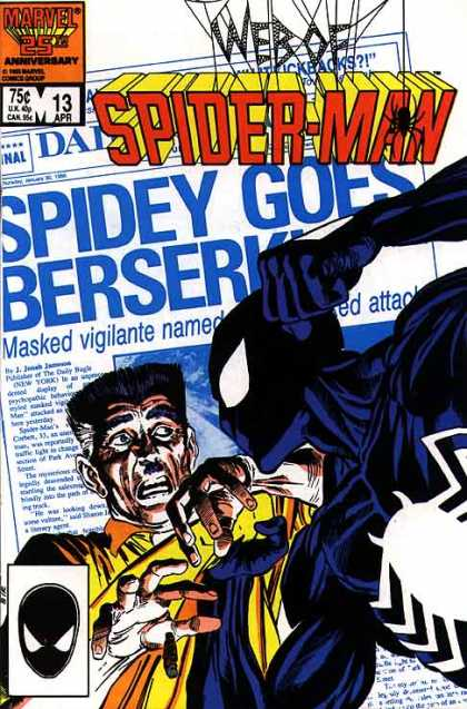 Web of Spider-Man 13 - Vigilante - Masked - Bad Spider - Attack - Black And Blue Spider - Josef Rubinstein