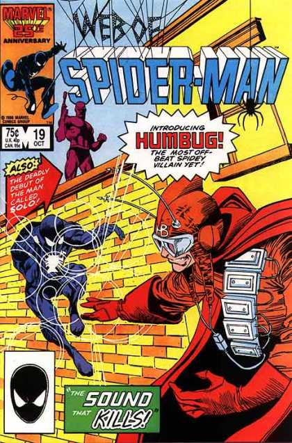 Web of Spider-Man 19 - Humbug - Beat Spidey - Villain Yet - Marvel - The Deadly