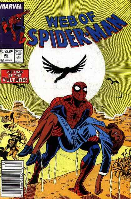 Web of Spider-Man 45 - Spiderman - Victims Of The Vulture - Desert - Sun - Vultures