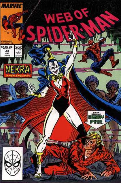 Web of Spider-Man 46 - Marvel - Nekra - Woman - Cape - Superhero