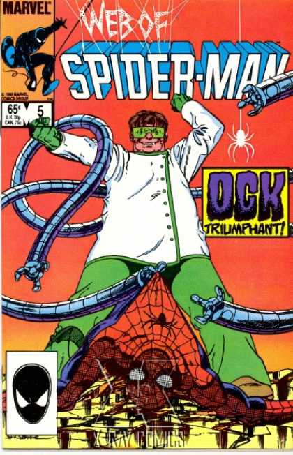 Web of Spider-Man 5 - Marvel Comics - Ock Triumphant - Robot Hands - Lab Coat - Safety Glasses - John Byrne