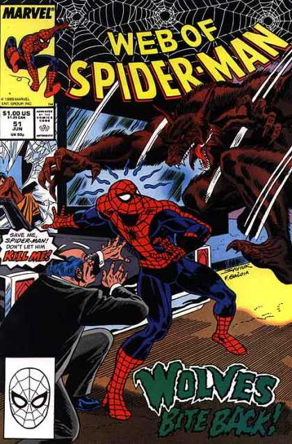 Web of Spider-Man 51 - Spider Man - Wolf Man - Spider Man Vs Wolf Man - Marvel Spider Man - Spider Man The Protector