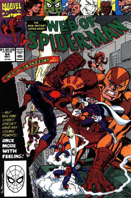 Web of Spider-Man 64 - Non-mutant - Super Hero - Vengeance - Feeling - Sense