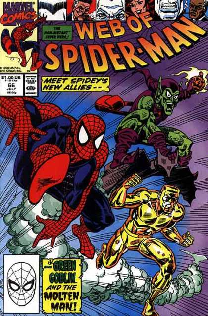 Web of Spider-Man 66 - Meet - New Allies - Green Goblin - Molten Man - Marvel