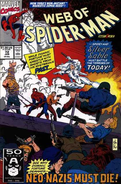 Web of Spider-Man 72 - Past - Today - Silver Sable - Mysterious - Terrors - Dave Ross