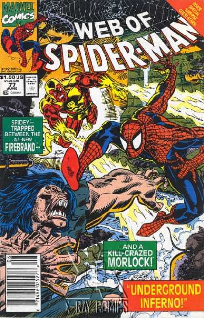 Web of Spider-Man 77 - Web - Kill Crazed Morlock - Underground Inferno - Fibrebrand - Fire