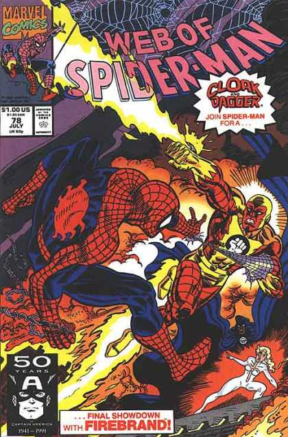 Web of Spider-Man 78 - Marvel Comics - Web - Superhero - Clork And Dagger - Approved By The Comics Code