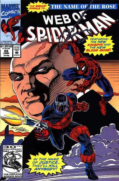 Web of Spider-Man 89 - Spider Man - The Name Of The Rose - Grand Finale - Kingpin - Blood Rose - Bob McLeod