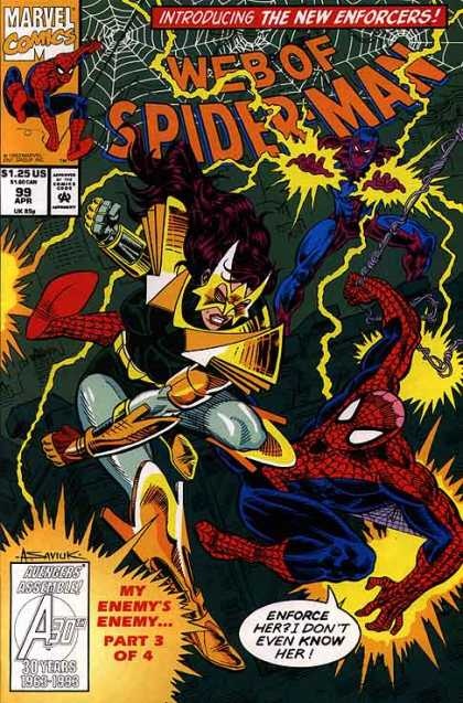Web of Spider-Man 99 - Marvel Comics - 125 Us - 99 Apr - A 30 Years - My Enemysenemy Part3 Of 4