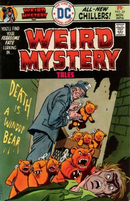 Weird Mystery Tales 24 - Dc - Super Stars - Death Is A Windup Bear - 25c Mp 24 Nov 30716 - Fearsome Fate