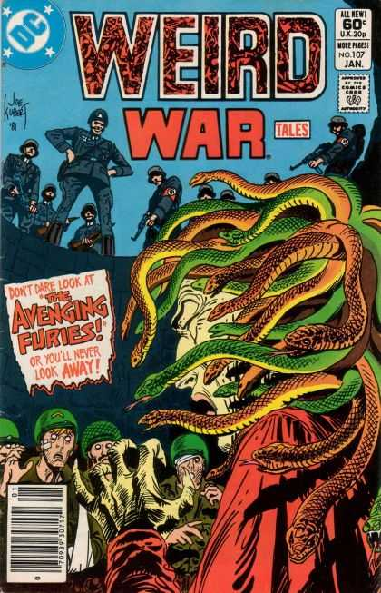 Weird War Tales 107 - Snake Lady - Evil - Death - Nazi - Guns