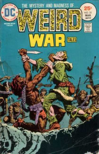Weird War Tales 35 - Monkey Men - Knife - Knife At Throat - Ammo Belt - Machine Guns