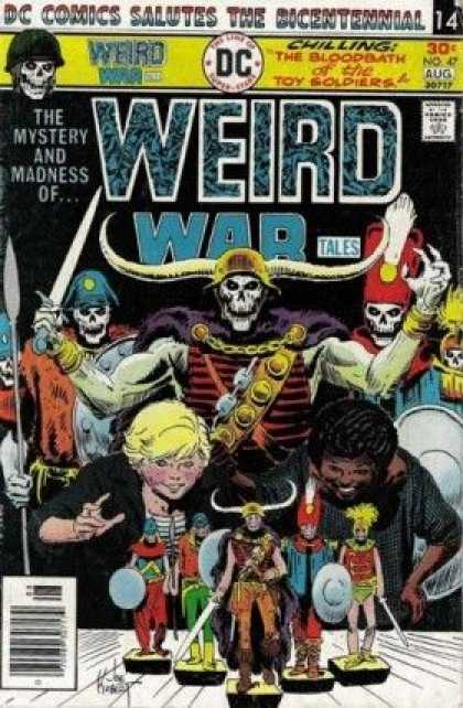 Weird War Tales 47 - Dc Comics Salutes The Bicentennial - Chilling The Bloodbath Of The Soldiers - The Mystery And Madness Of - Sword - Ready For Attack
