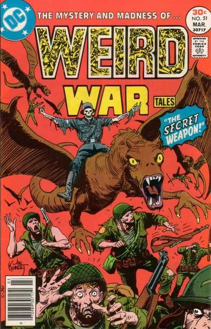 Weird War Tales 51 - Soldiers - Guns - Skeleton - The Secret Weapon - Fear