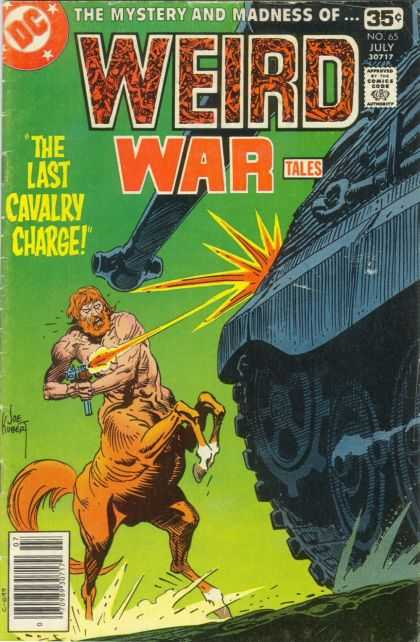 Weird War Tales 65 - Centaurs - War - Tanks - Man Beast And Metal - An Unusual Battle - Joe Kubert