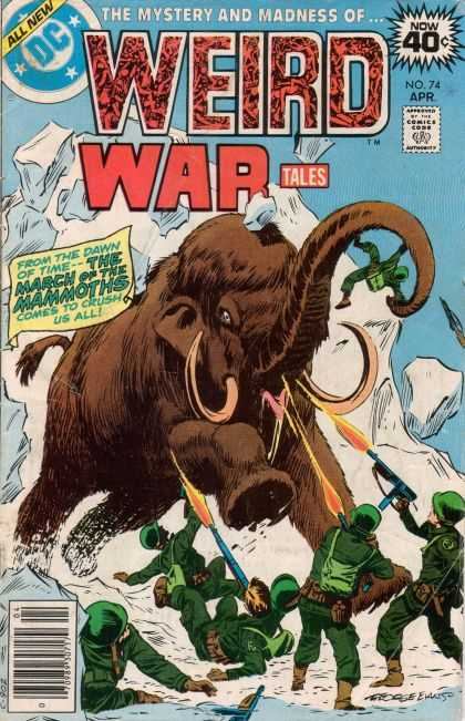 Weird War Tales 74 - The Mistery And Madness - All New - Elephant - Mountain - Soldiers