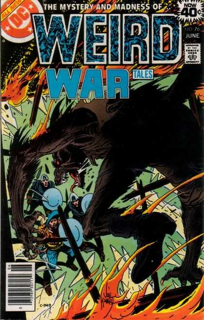 Weird War Tales 76 - Dc - June - 40 Cents - Mystery And Madness - Beast - Joe Kubert