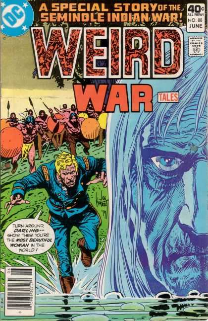 Weird War Tales 88 - Dc Comics - War Stories - Supernatural Stories - Indians - Comics Code Approved - Joe Kubert