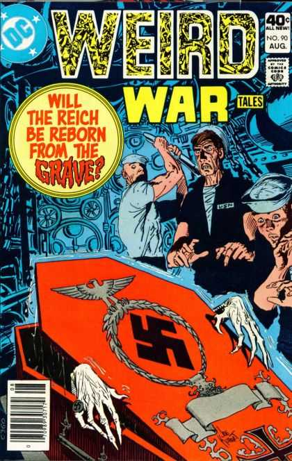 Weird War Tales 90 - Dc Comics - World War Ii - Scary - Hitler - War Heroes