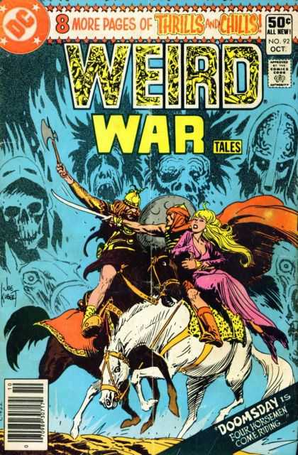Weird War Tales 92 - Viking - Ghoul - Axe - Dc Comics - Damsel