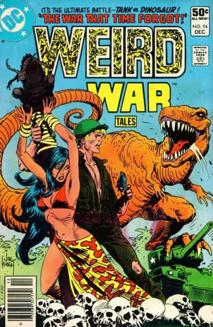 Weird War Tales 94 - Dinosaur - Skulls - Tank - Time - Battle