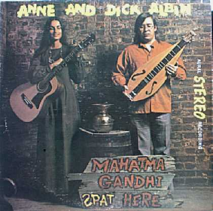 Weirdest Album Covers - Albin, Anne & Dick (Mahatma Gandhi Spat Here)