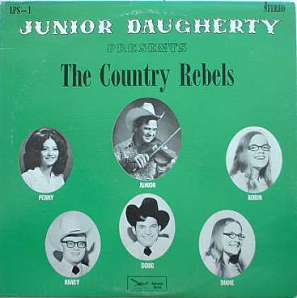 Weirdest Album Covers - Daugherty, Junior (Presents The Country Rebels)