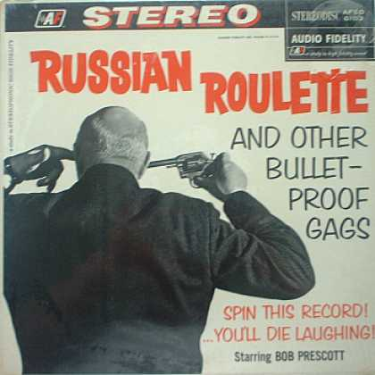 Weirdest Album Covers - Prescott, Bob (Russian Roulette)