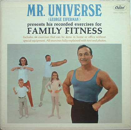 Weirdest Album Covers - Eiferman, George (Mr. Universe Presents Family Fitness)