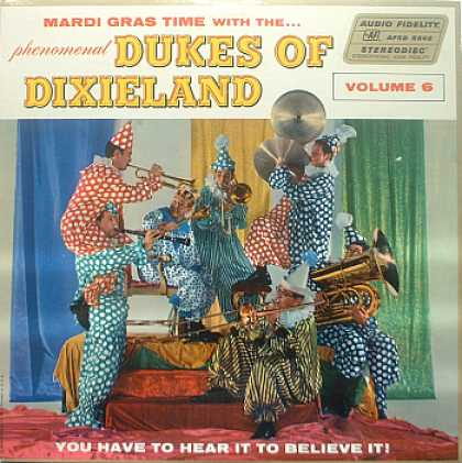 Weirdest Album Covers - Dukes Of Dixieland (Mardi Gras Time, Vol 6)