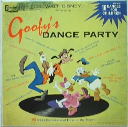 Weirdest Album Covers - Goofy's Dance Party