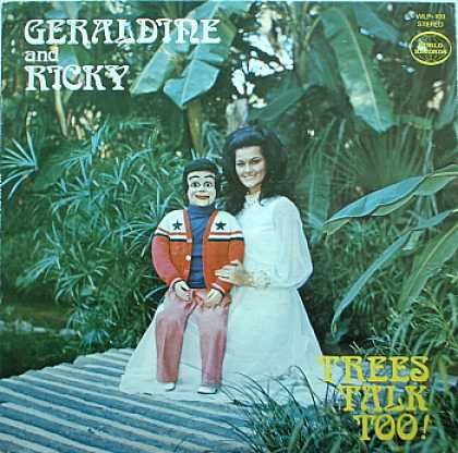 Weirdest Album Covers - Geraldine & Ricky (Trees talk Too!)