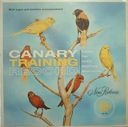 Weirdest Album Covers - Canary Training Record