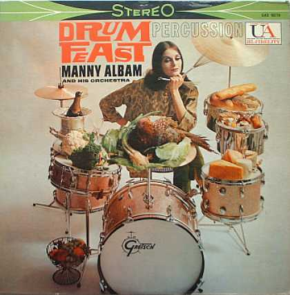 Weirdest Album Covers - Albam, Manny (Drum Feast)