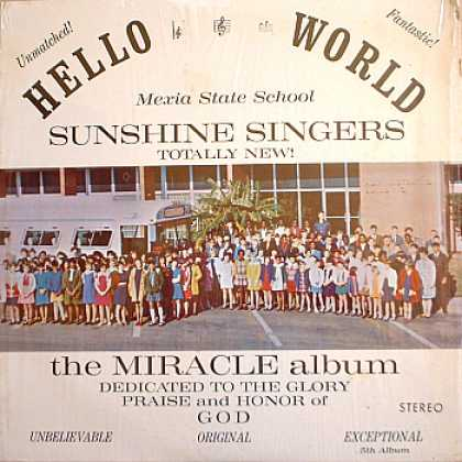 Weirdest Album Covers - Mexia State School Sunshine Singers (The Miracle Album)