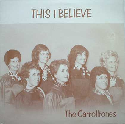 Weirdest Album Covers - Carrolltones (This I Believe)