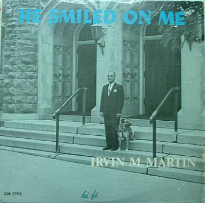 Weirdest Album Covers - Martin, Irvin (He Smiled On Me )