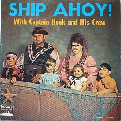 Weirdest Album Covers - Captain Hook & His Crew - (Ship Ahoy!)