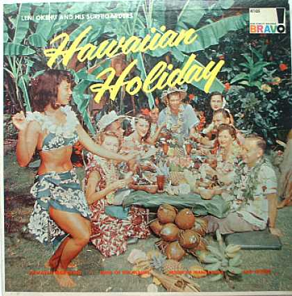 Weirdest Album Covers - Okehu, Leni & His Surfboarders (Hawaiian Holiday)