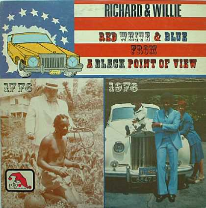 Weirdest Album Covers - Richard & Willie (Red, White & Blue From A Black Point Of View)